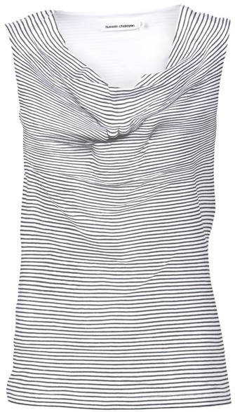HUSSEIN CHALAYAN - Abstract striped top
