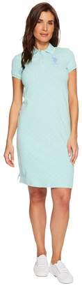 U.S. Polo Assn. Stretch Pique Printed Polo Dress Women's Dress