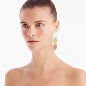 J.Crew Disc drop earrings