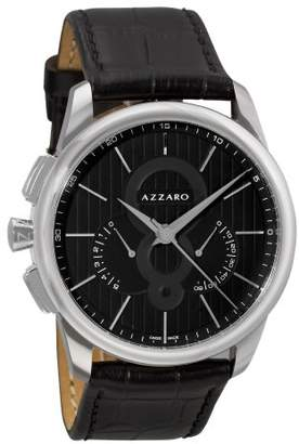 Azzaro Men's 'Legand Chronograph' Swiss Quartz Stainless Steel and Leather Dress Watch