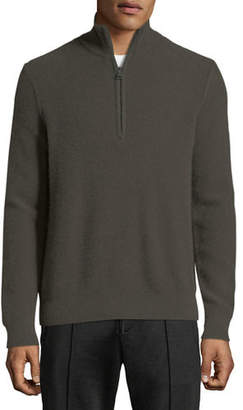 Vince Men's Half-Zip Mock-Neck Cashmere Pullover