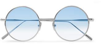 Acne Studios Scientist Round-Frame Matte-Metal Sunglasses - Men - Blue