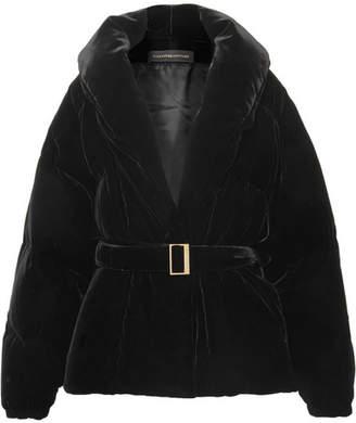 Alexandre Vauthier Belted Velvet Jacket - Black
