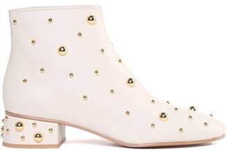 See by Chloe Jarvis Stud-embellished Leather Booties