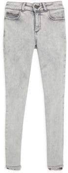 Chloé Girl's Mid-Rise Acid Wash Skinny Jeans