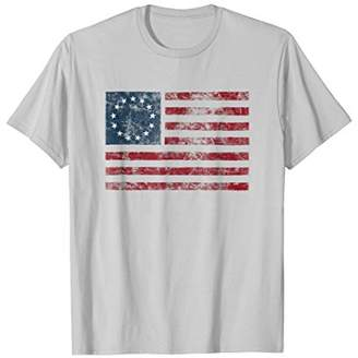American Flag of the 13 Colonies USA Distressed TShirt