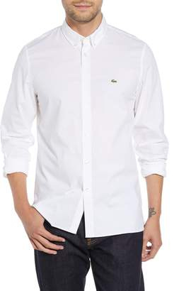 Lacoste Regular Fit Solid Poplin Sport Shirt