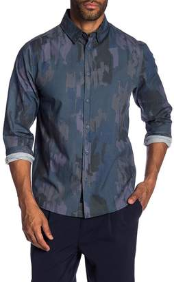 NATIVE YOUTH Shadow Stroke Print Trim Fit Shirt