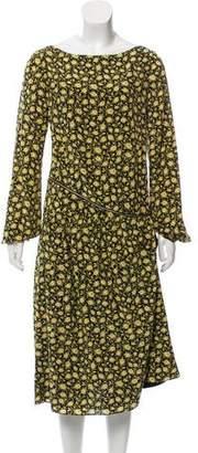 Burberry Printed Silk Dress