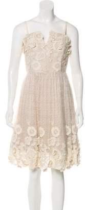 Alice + Olivia Lace A-Line Dress