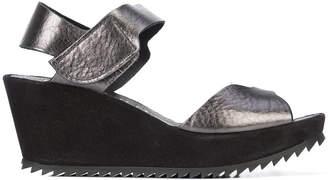 Pedro Garcia ridged sole wedge sandals