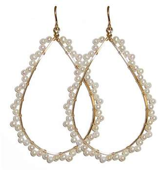 Viv&Ingrid Pearl Scalloped Hoops