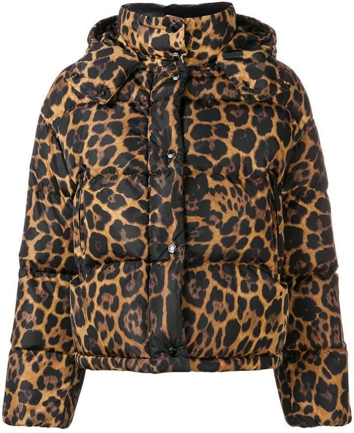 animalier print padded jacket