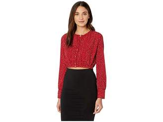 Amuse Society Isn't She Charming Woven Cropped Top