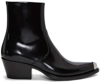 Calvin Klein Black Tex-C Bis Boots