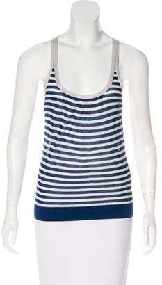 Lela Rose Sleeveless Striped Top