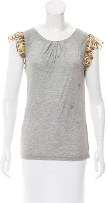 CH Carolina Herrera Knit Abstract-Paneled Top