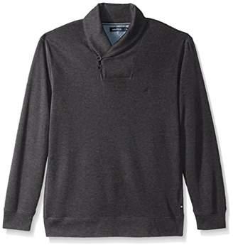 Nautica Men's Long Sleeve Shawl Collar Pullover