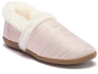 Toms Metallic Woven Faux Fur Lined Slipper (Little Kid & Big Kid)