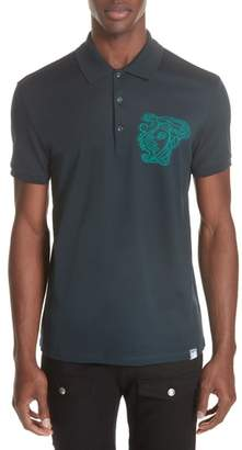 Versace Medusa Patch Polo