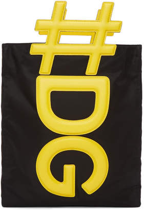 Black and Yellow Logo Tote