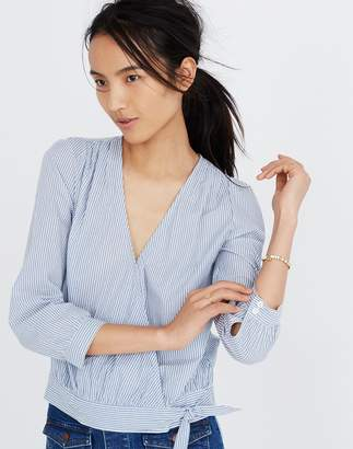 Madewell Wrap Top in Albury Stripe