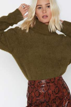 Nasty Gal Snuggle Buddy Turtleneck Sweater