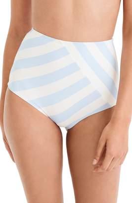 J.Crew Stripe Seamless High Waist Bikini Bottoms