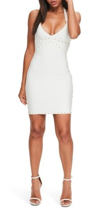 Women's Missguided Studded Body-Con Bandage Dress $82 thestylecure.com