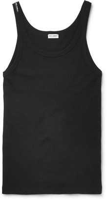 Dolce & Gabbana Marcello Ribbed Cotton-Jersey Tank Top $55 thestylecure.com