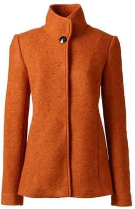 Lands' End Orange Tall Textured Wool Blend Jacket