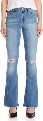 YMI Jeanswear Distressed Flared Skinny Jeans