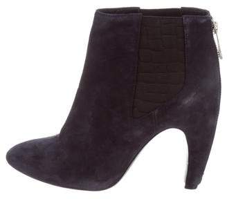 Rachel Zoe Suede Pointed-Toe Ankle Boots