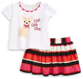Kate Spade cha cha cha shirt & skirt set (Baby Girls)
