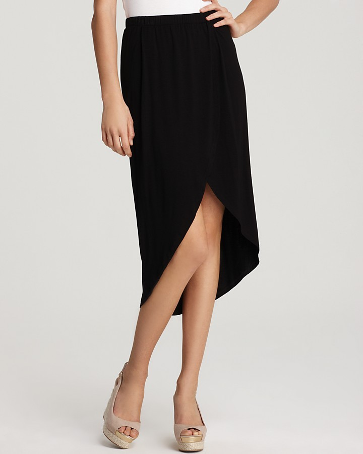 Ella Moss Skirt - Faux Wrap High/Low