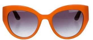Dolce & Gabbana Embellished Gradient Sunglasses