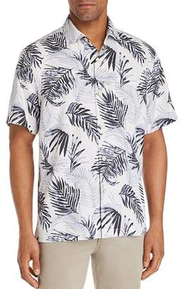 Tommy Bahama Adriatic Short-Sleeve Frond-Print Classic Fit Shirt