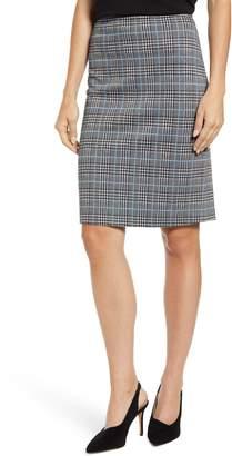 Vince Camuto Plaid Ponte Pencil Skirt