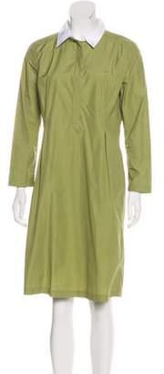 Trademark Collared Midi Dress Lime Trademark Collared Midi Dress