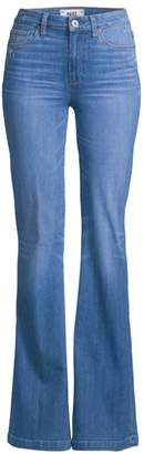 Paige Genevieve High-Rise Flared Jeans