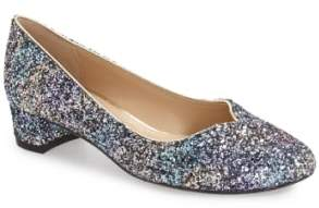 J. Renee 'Bambalina' Block Heel Glitter Pump