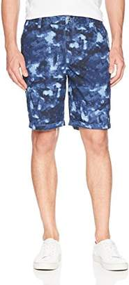 GUESS Men's Boyd Poplin Marble Print Short