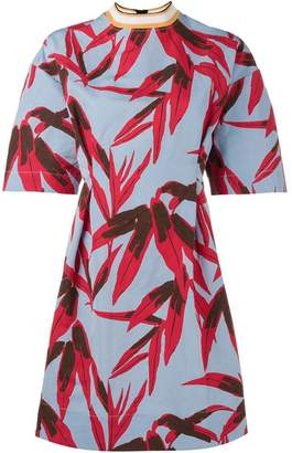 Marni leaf print skater dress