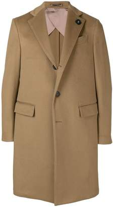 Lardini single-breasted fitted coat