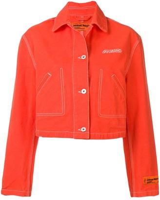 Heron Preston cropped denim jacket