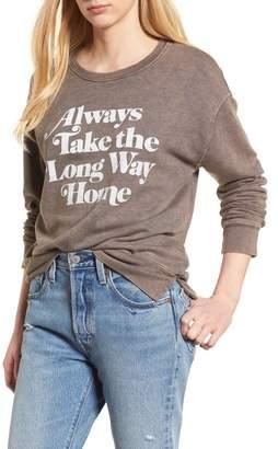 Junk Food Clothing Always Take the Long Way Home Sweatshirt