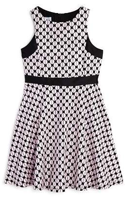 Pippa & Julie Girls' Geometric Brocade Dress - Big Kid