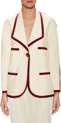 Chanel Silk Trimmed Jacket