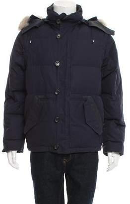 Louis Vuitton Fur-Trimmed Down Jacket