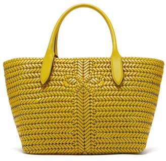 Anya Hindmarch The Neeson Woven Leather Basket Bag - Womens - Yellow